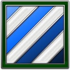 """""""We Stay Here"""" flag of 3rd Infantry Division"""