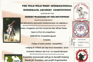 The Wild Wild West International Horseback Archery Competition