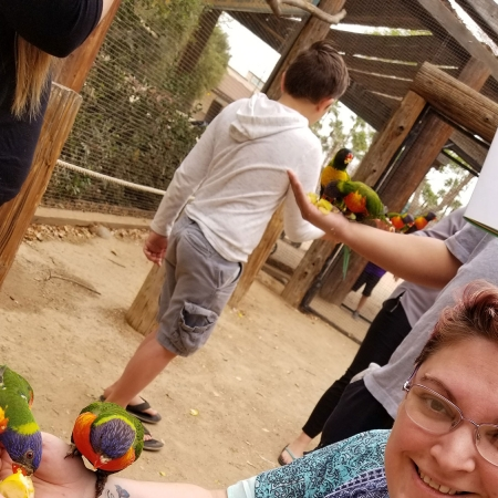 Wildlife Zoo in March with Gold Star families