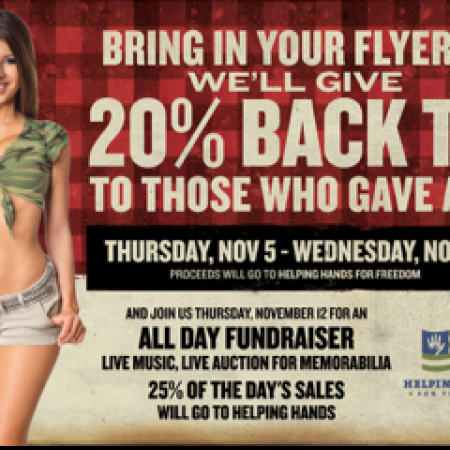 Twin Peaks and Helping Hands for Freedom Salute our Troops
