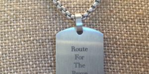 Route for the Brave Dog Tag