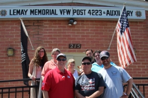 Route for the Brave stops at Lemay VFW