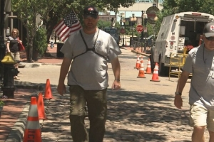 Man walking across America in support of veterans