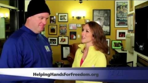 Helping Hands For Freedom - Walk Across America - David Roth training kick-off